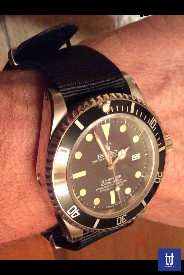 #Rolex #Seadweller con #cinturino #nato / #nato #strap on #Rolex #Seadweller  Info about strap www.towertimestraps.it towertime.shop@gmail.com WhatsApp +39 3295799629