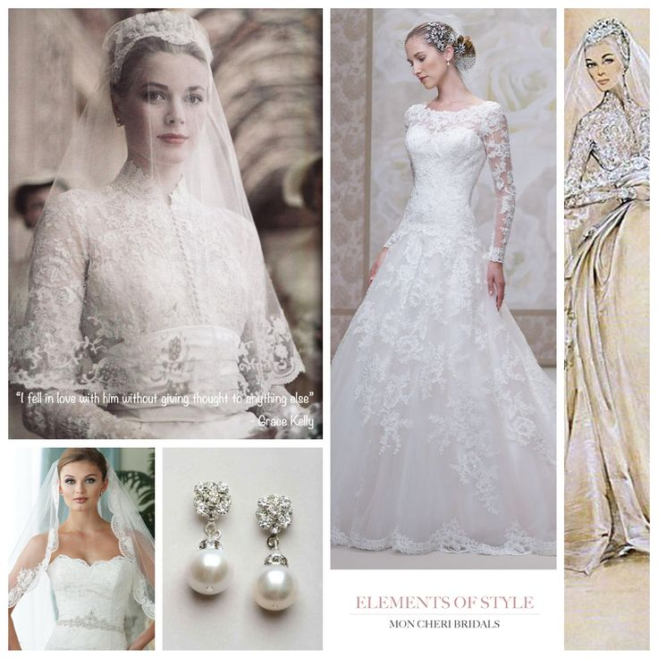 "James Clifford Wedding Gowns: Elements Of Style ""Grace Kelly Elegance"" By Mon Cheri"
