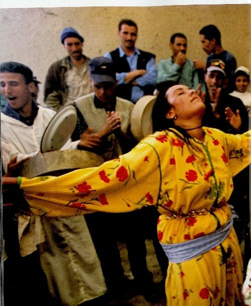 A Woman Dancing At A Wedding In Morocco, National Geographic