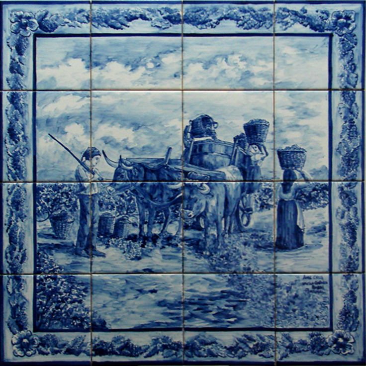 17 best images about azulejos on pinterest ceramics for Fresque murale definition