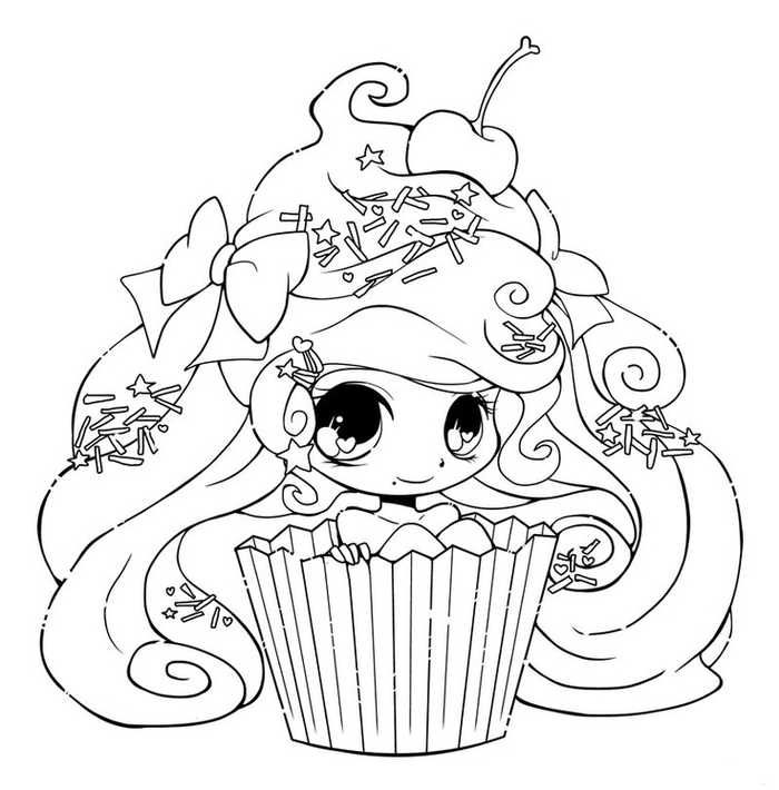 Printable Cupcake Coloring Pages Chibi Coloring Pages Cute