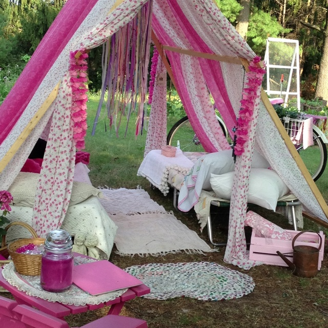 Homemade tent for my daughter's party