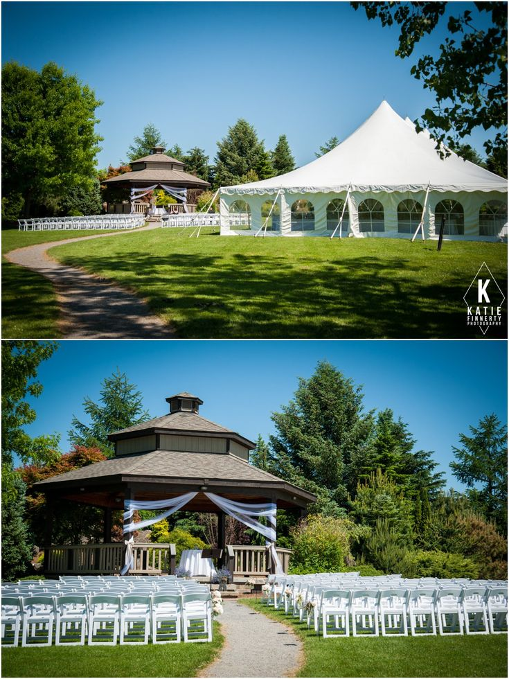 Ceremony Gazebo And Reception Tent Outdoors At The Webster Arboretum On Rochester NY A Outdoor WeddingsOutdoor