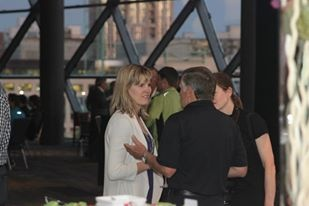 Michelle Taggart with Jim Robinson at the 2013 President's Reception - a great way to start Tamarack Ottawa Race Weekend.