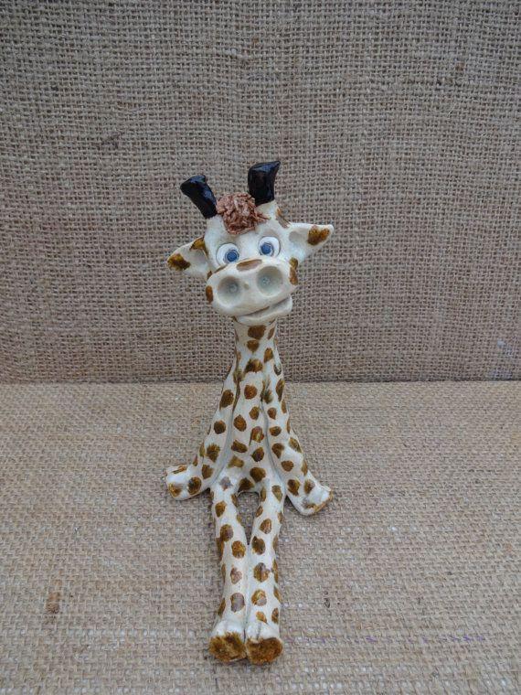 Ceramic giraffe handmade giraffe ornament. Giraffe by Sallyamoss, £18.00
