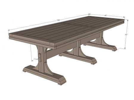 26 best images about dining tables i like on pinterest for Pedestal trestle dining table plans