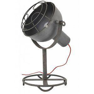 HK-living Tafellamp grijs metaal 'spotlight' 35x35x50cm