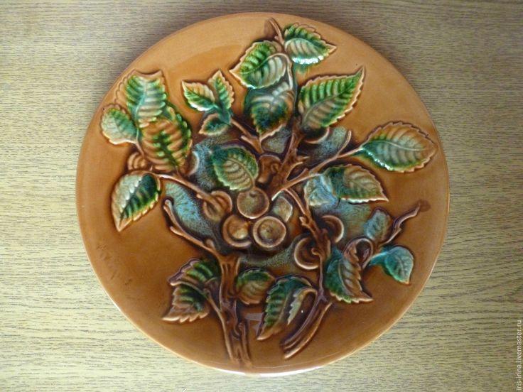 Купить Керамическая винтажная тарелка, ЗИК - винтажная посуда, коллекционная тарелка, керамическая тарелка