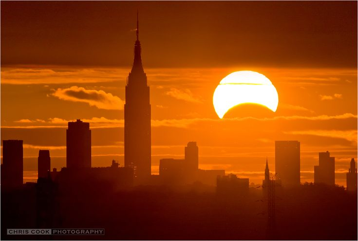 Chris Cook's stunning image of the partial eclipse over New York