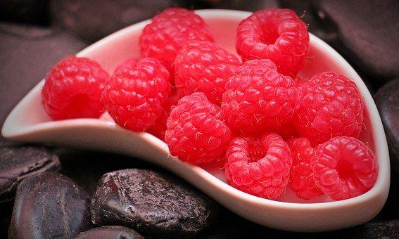 Málna, Gyümölcsök, Gyümölcs, Piros