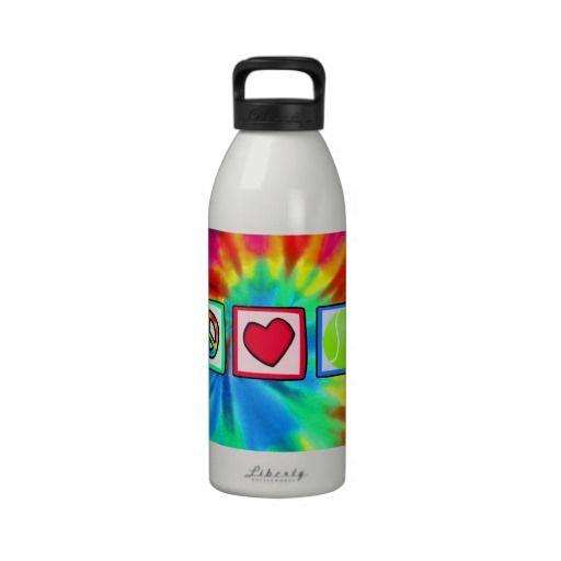 Peace, Love, Tennis Reusable Water Bottle