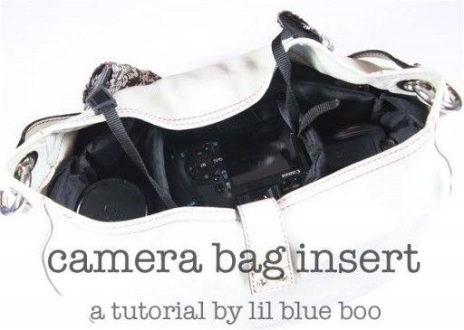 Camera Bag Insert Tutorial from Lil Blue Boo