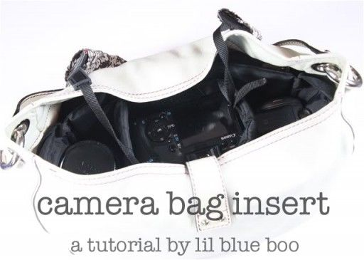 I soo need this. Tutorial on how to make your purse into a camera bag with a padded insert.