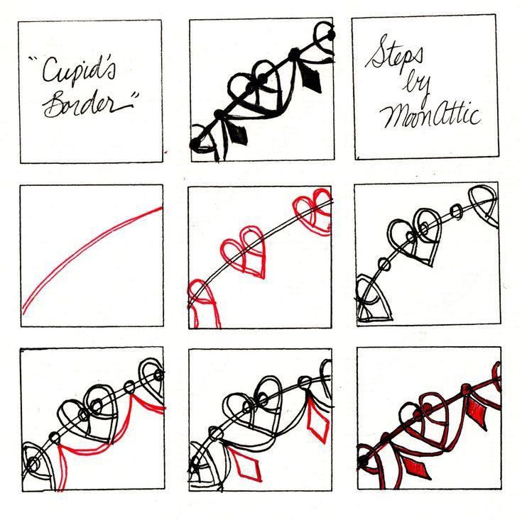 #CupidsBorder #zentangle #MoonAttic