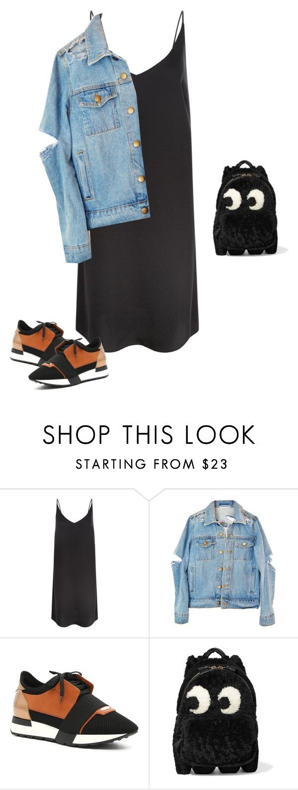 """Untitled #1956"" by quaybrooks ❤ liked on Polyvore featuring New Look, Balenciaga and Anya Hindmarch"