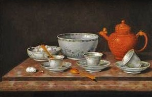 Tea Set. Pieter Gerritsz van Roestraten (Dutch Golden Age painter, 1627-1698).