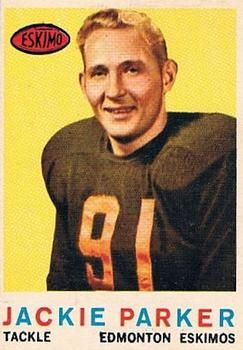 1959 Topps CFL #43 Jackie Parker Front