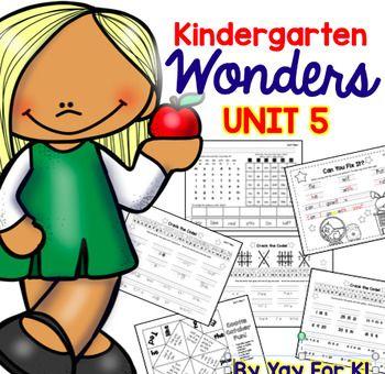 FREEBIE!--Unit 5 McGraw-Hill Wonders Kindergarten