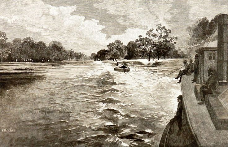 FREDERICK SCHELL (1838-1902)  Vintage Lithograph Title: The Junction of the Rivers Murray and Darling Size: 30cm x 47cm Frame Size: 48cm x 66cm Signature Details: Titled Lower Centre, This Lithograph is a Later Facsimilie of the Original that was Published in 1886 Artwork is Housed in a Glazed Timber Frame