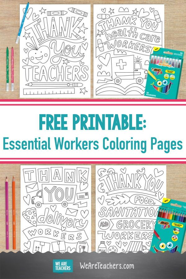 Invite Kids To Thank Essential Workers With These Free Coloring Writing Pages Free Printable Coloring Sheets Letters For Kids Thank You Nurses