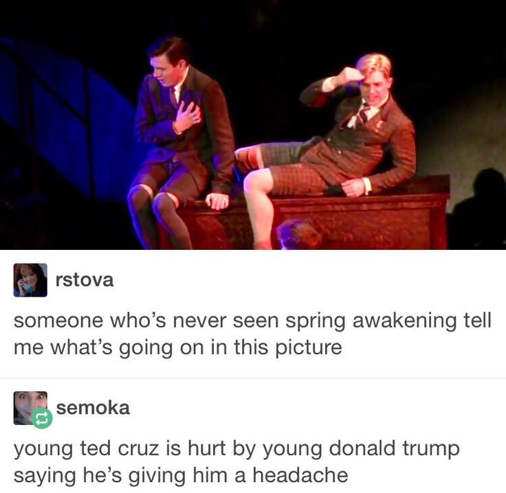 Young ted cruz is having a heart attack because he thought he killed young donald trump by hitting him over the head, he was wrong.