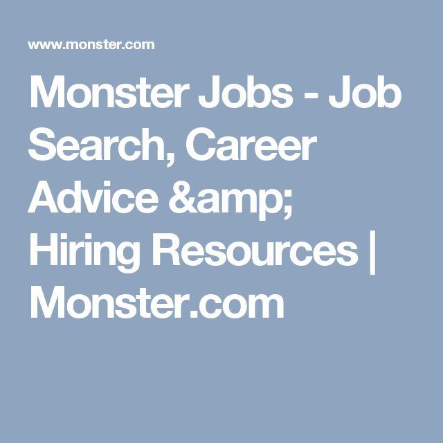The 25+ best Monster job posting ideas on Pinterest Job search - dice resume