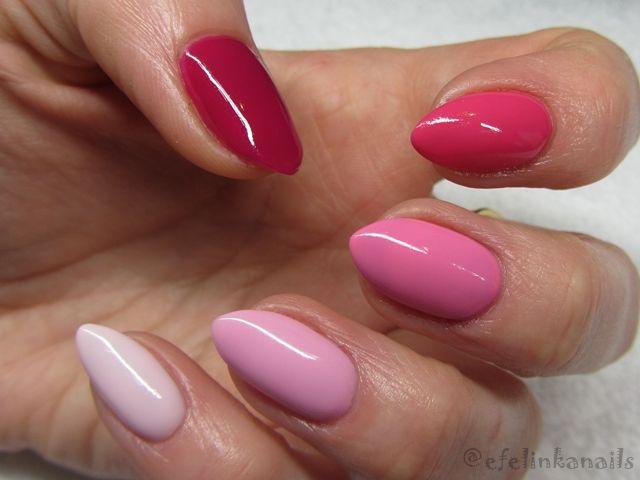 128 - Pink Marshmallow 003 - Sweet Pink 049 - True Pink 007 - Pink Rock 123 - Szeherezada