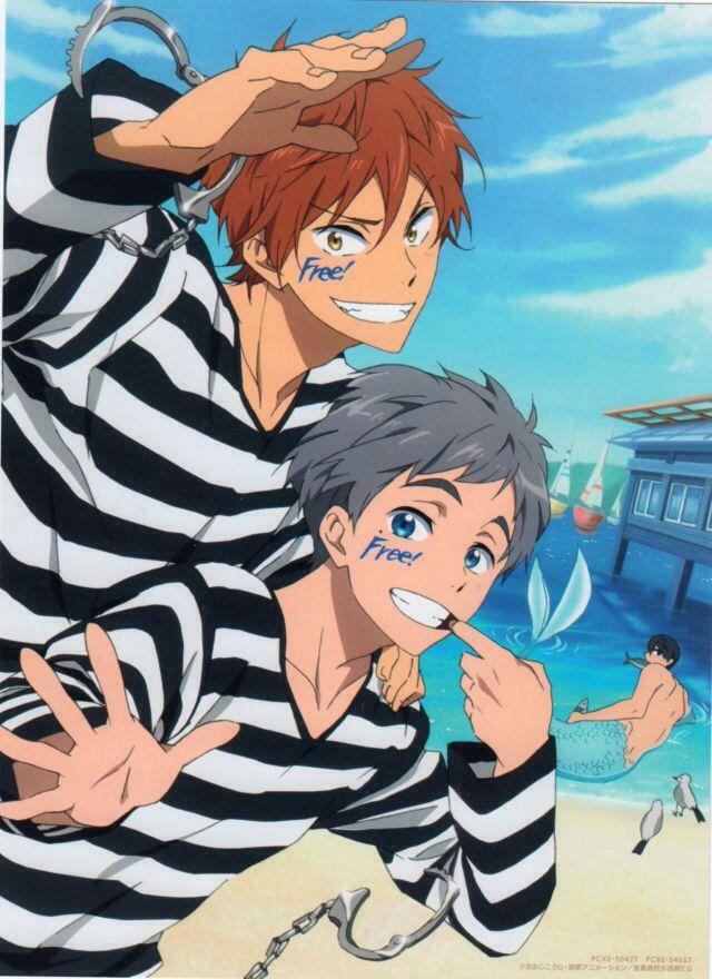 Free! Eternal Summer Momotaro et Aiichiro LOL