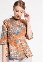 Arjuna Weda Blouse Batik Daun Anggur - Jual   ZALORA Indonesia ®