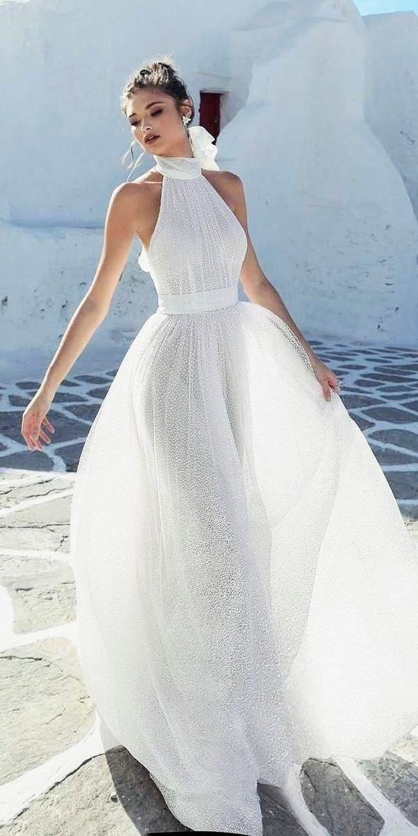 Beautiful Summer Wedding Dress For A Greek Inspired Wedding Greek Wedding Dresses Wedding Dresses Simple Glamorous Bride