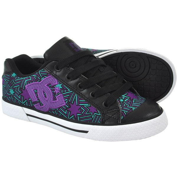 DC Chelsea SE Star trainers, DC trainers, skate shoes, black shoes UK ($97) ❤ liked on Polyvore