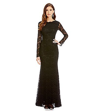 JS Collections Lace Mermaid Gown #Dillards