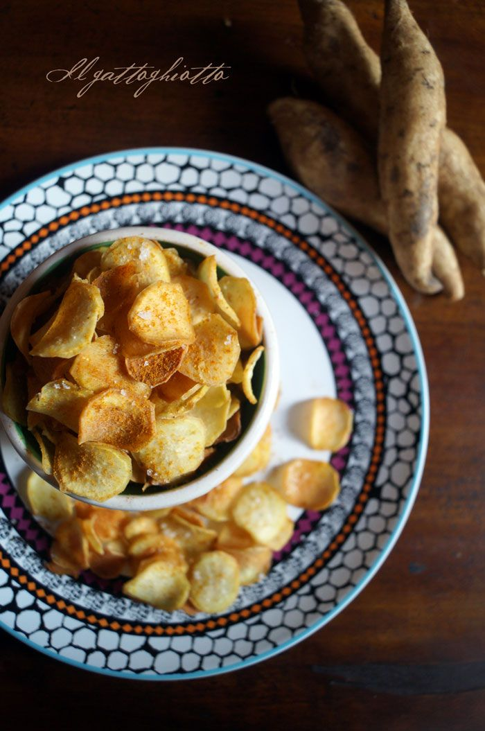 Chips di patate dolci al curry e fior di sale