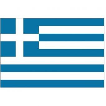 We should paint a Greek flag on a large drop cloth