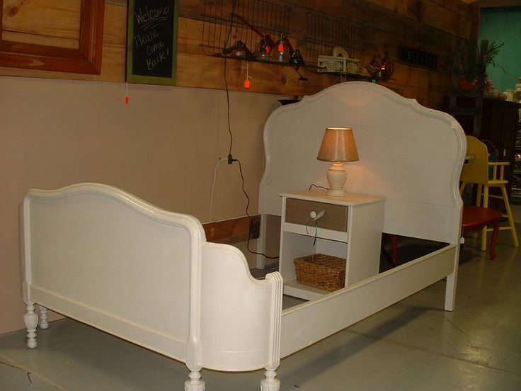 Antique Curved Footboard Bed It Had To Be Redone And