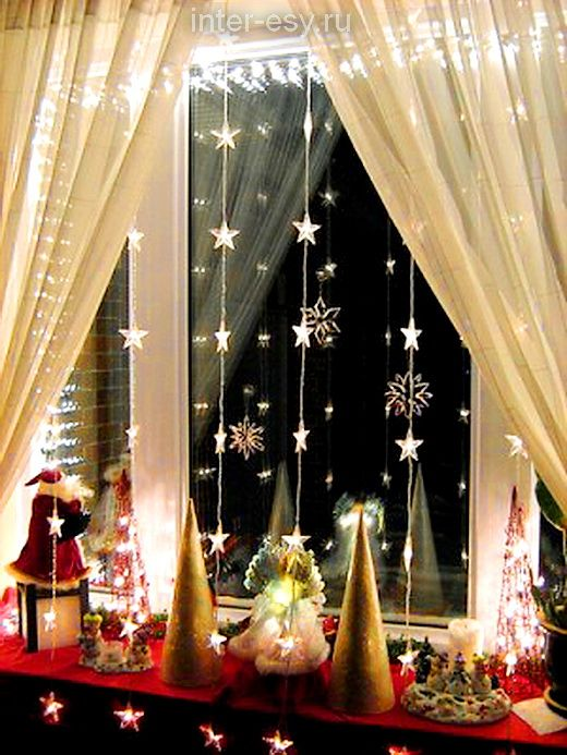 Ideas how to decorate a window for the new year diy How to decorate windows