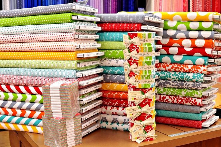 """Fabric Heaven!  Great place to look for fabric, patterns, and lots of ideas.  ;o)"""