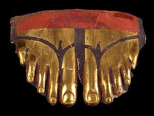 A gilded Egyptian toe cover from the early Roman Period c. 100 BC.Early Romans, Gilded Toes, Egyptian Toes, Art, Ancient Egypt, Toes Covers, Romans Periodic, Periodic Ears Romans, Gilded Egyptian