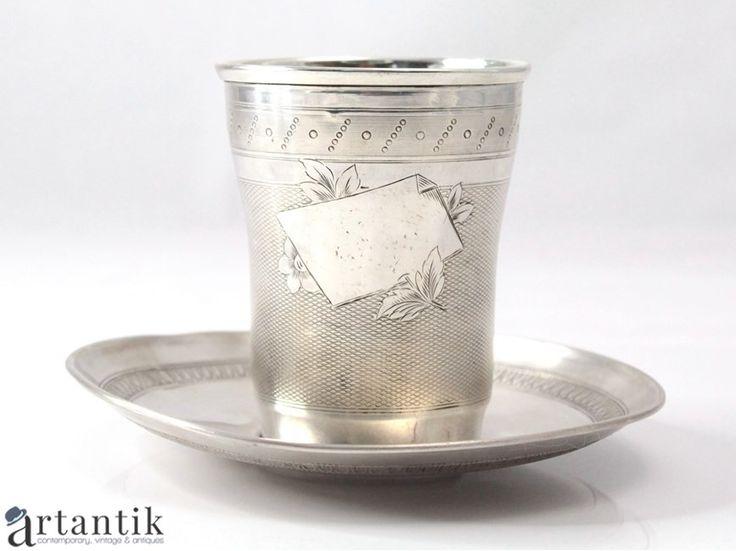 Pahar vintage din argint / Vintage silver glass