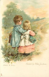 From a collection of post card illustrations by Helen Jackson (English, 1855-1911)