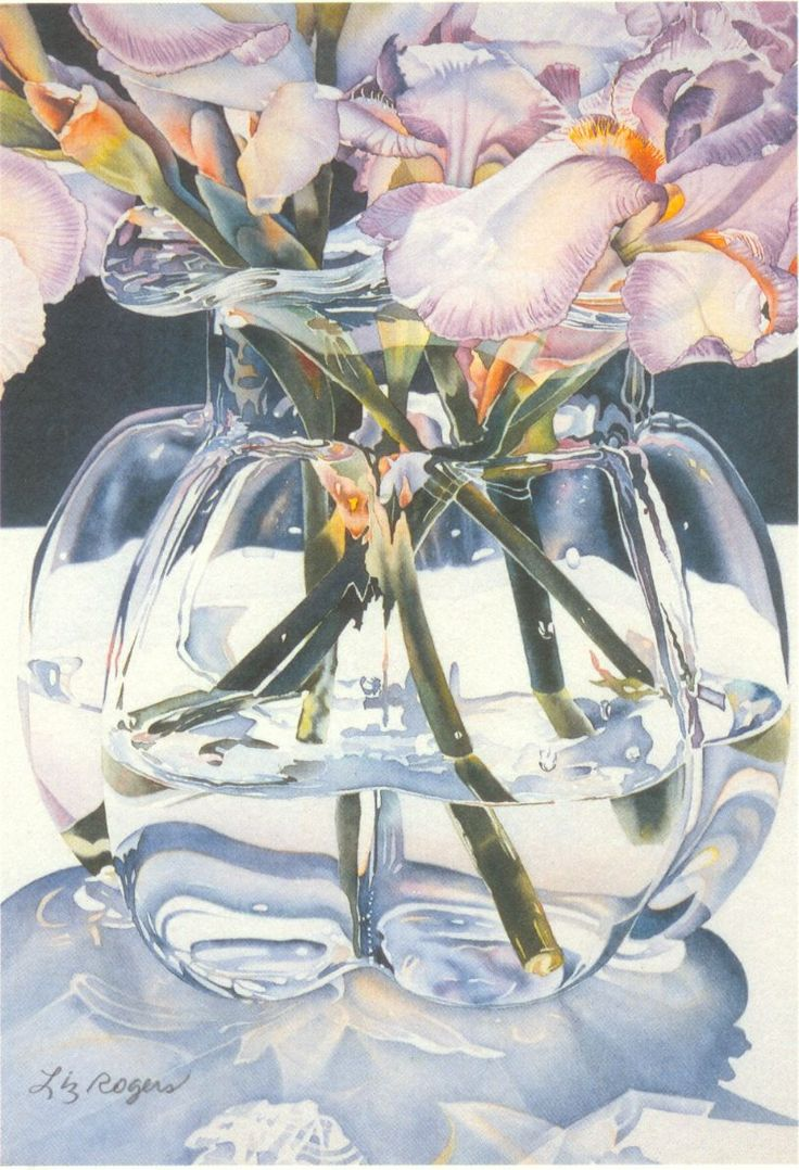 """Clearly Glass"" Liz Rogers Watercolors"