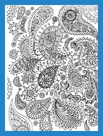 Sample Page Posh Coloring Book Paisley Designs For Fun And Relaxation