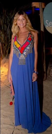 love it - hippie chic blue long dress