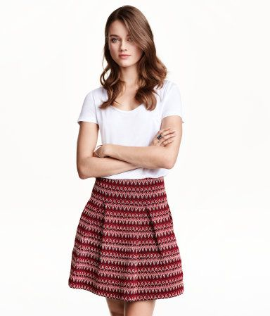 This H&M skirt is inspired by upholstery fabric, a hot trend for Fall 2015.