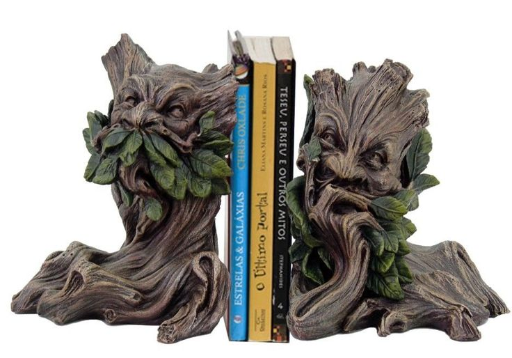 Spirit OF THE Willows Forest Mythical Greenman Bookend SET Magic Statue Resin | eBay