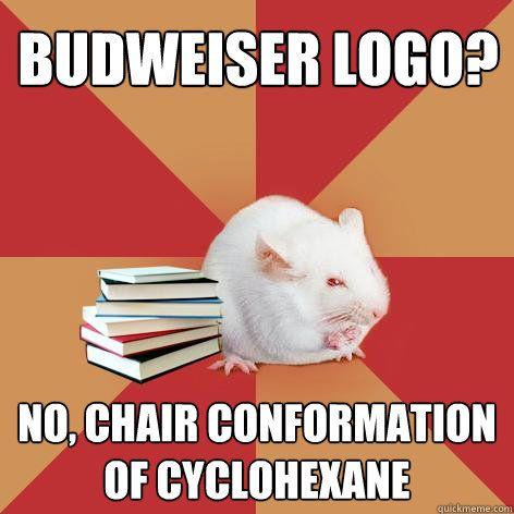 Budweiser Logo? No, Chair conformation of cyclohexane ...