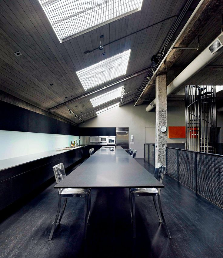 Old warehouse converted into fabulous urban home. I want a long table like this