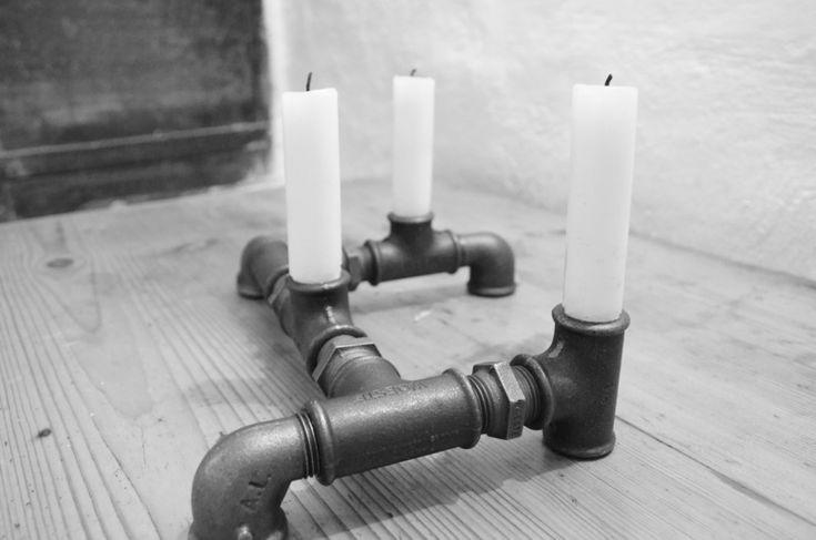 """Designer Kerzenhalter aus der Serie """"Industrial Chic"""" von Lampen.KO.Design.   mehr Infos unter http://lampen-ko-design.blogspot.de/"""