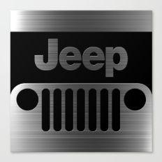 jeep logo Canvas Print