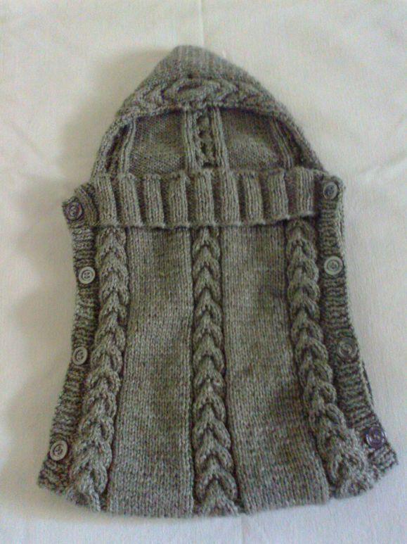 77a9d9401c4fa Saco para carregar bebê ou para o bebê dormir.Feito em tricô